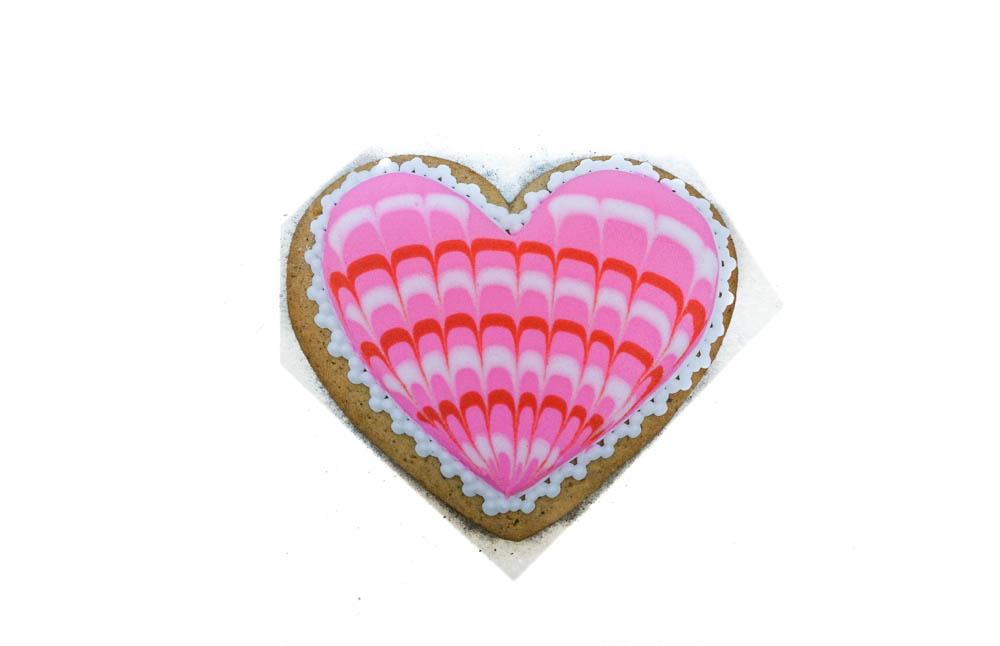 Сердце расписное