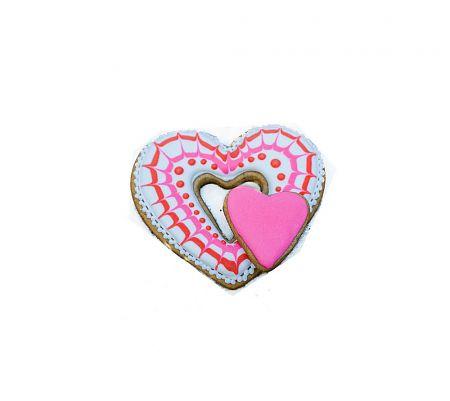 Сердце двойное в розовом цвете